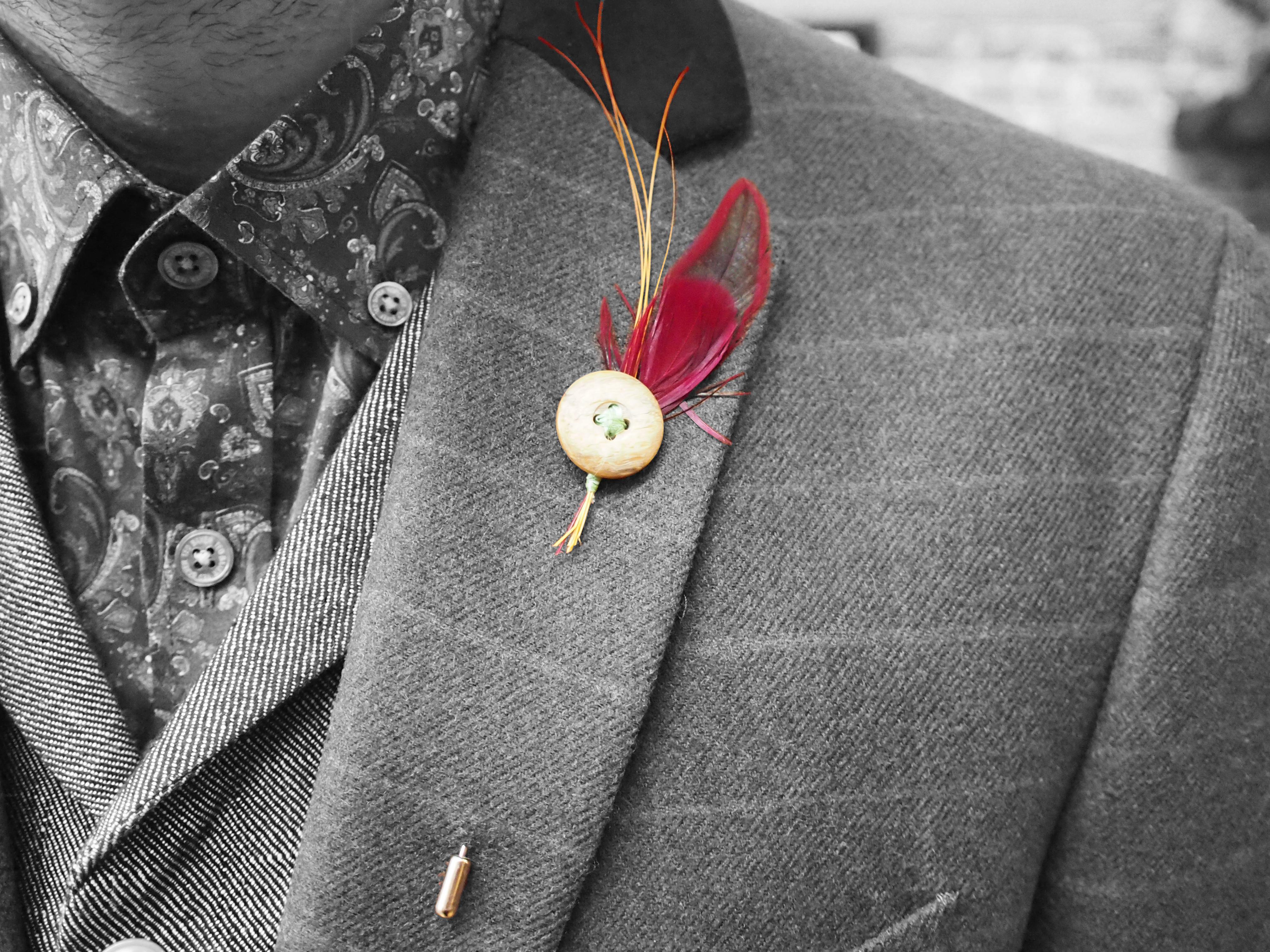 Hook and Furn Lapel Pin Main