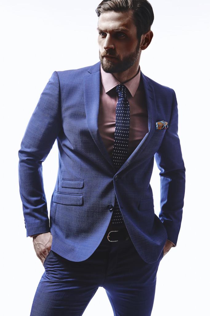 Tiger of Sweden Nedvin Marzotto Birdseye Suit: $899