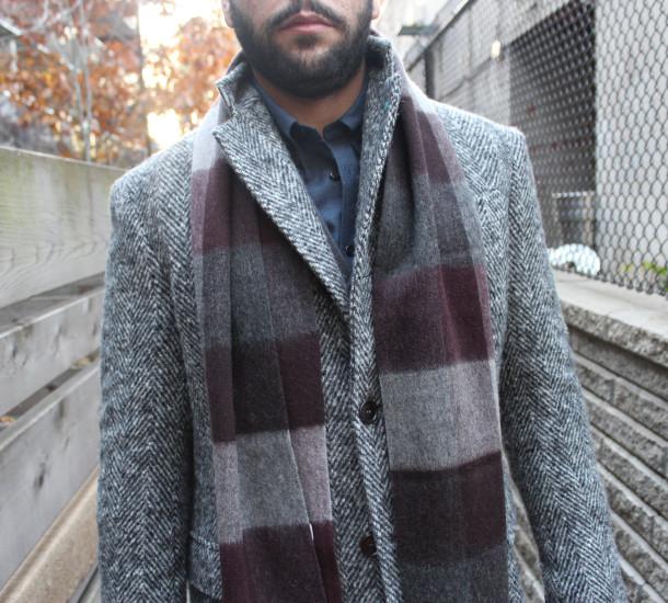 Eidos Napoli - Palermo Herringbone Overcoat $1450