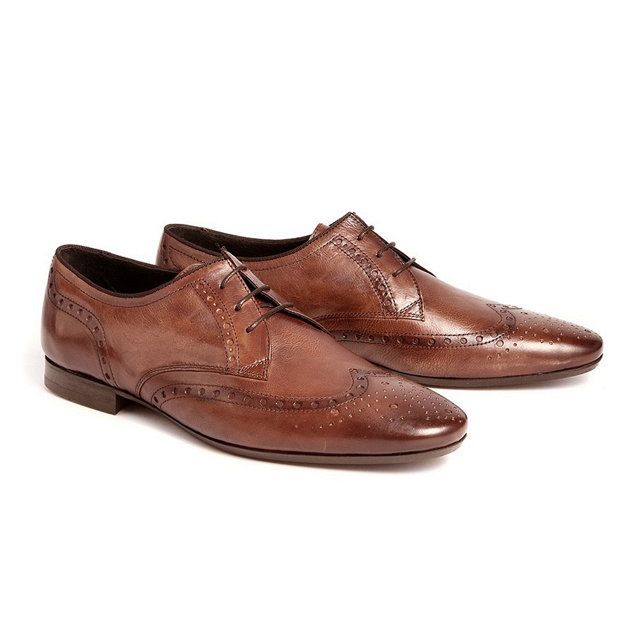 Hudson Eddie Leather Brogue Shoe $248