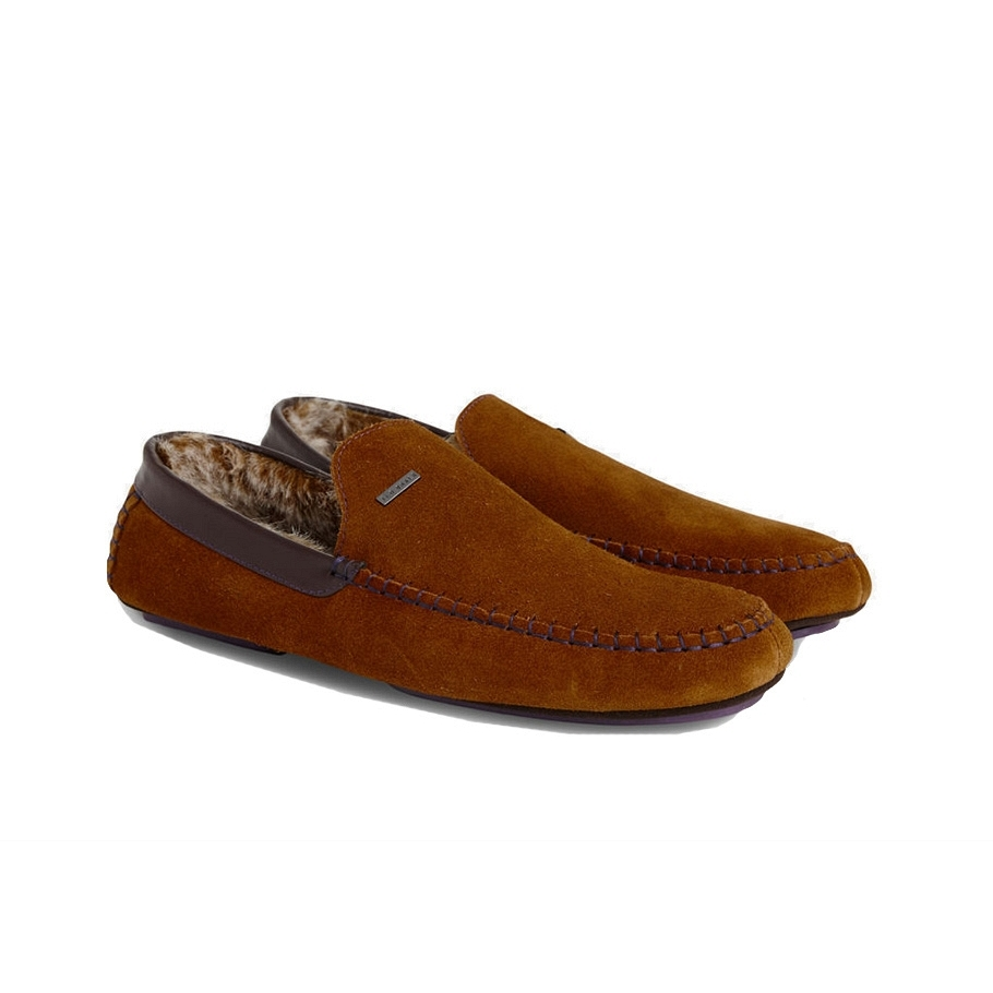 Ted Baker Maddoxx Faux Fur Moccasin Slippers $120
