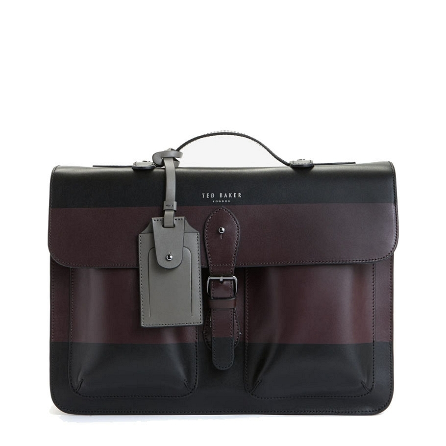 Ted Baker Stripe Panel Leather Satchel bag $379