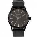 Nixon Gator Sentry 38 Leather Watch $175