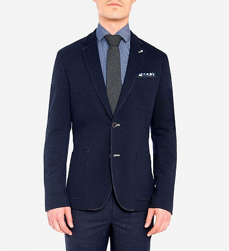 Blue Industry Knit Jersey Blazer $320