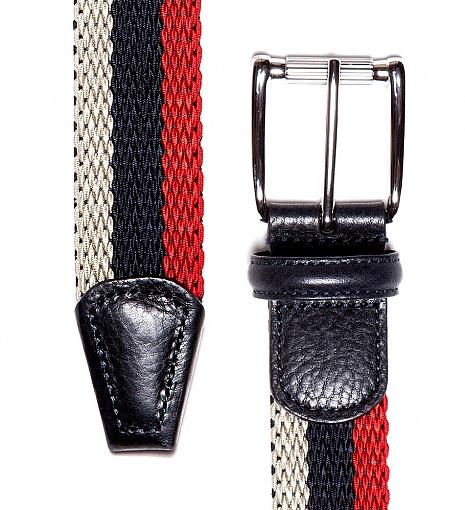 Anderson's 3 Stripe Woven Belt $195