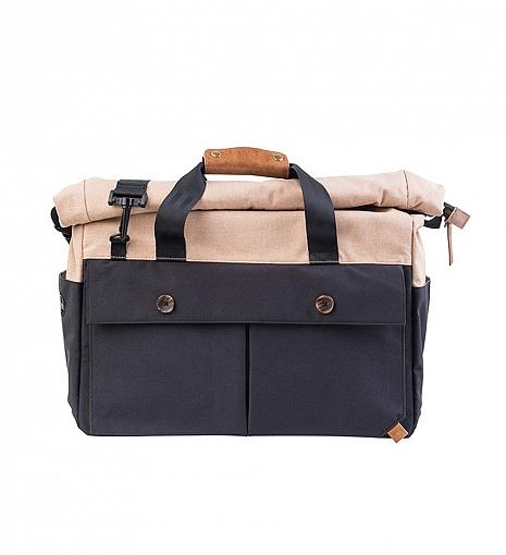 PKG Black/Tan Rolltop Briefcase $140