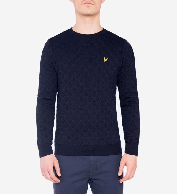 Lyle & Scott - Quilted Argyle Sweater