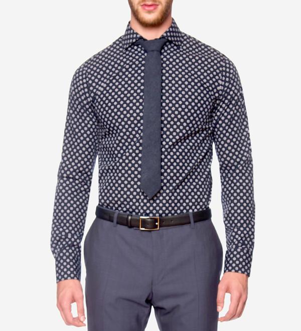Oscar of Sweden - Geometric Floral Print Shirt
